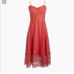 J.Crew Daisylace Dress in Smoky Coral
